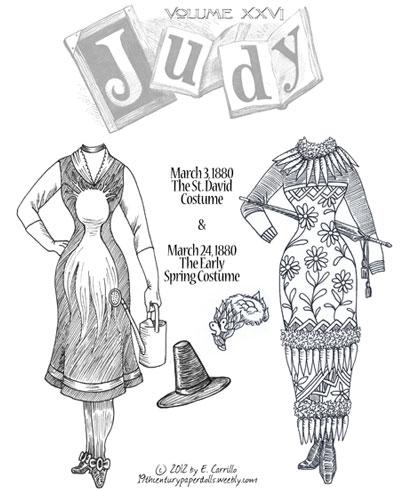 Judy 19th Century paper doll