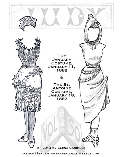 Judy 19th Century paper doll