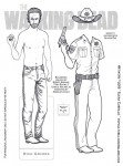 Walking Dead paper doll Rick Grimes