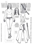 Walking Dead paper doll Michonne