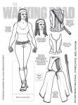 Walking Dead paper doll Michonne