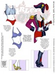 Harley Quinn paper doll