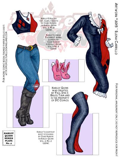 Harley Quinn paper dolls