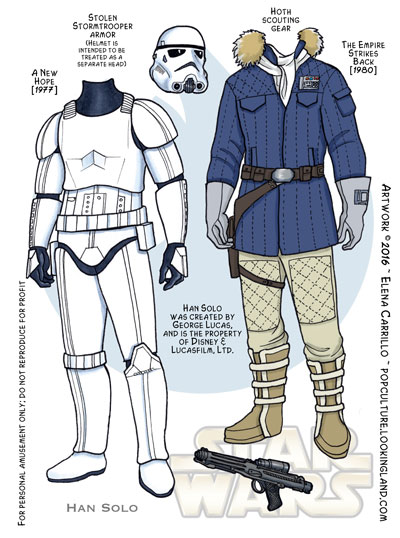 Star Wars paper dolls Han Solo