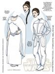 Star Wars paper dolls Leia Organa