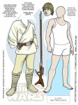 Luke Skywalker Star Wars paper doll